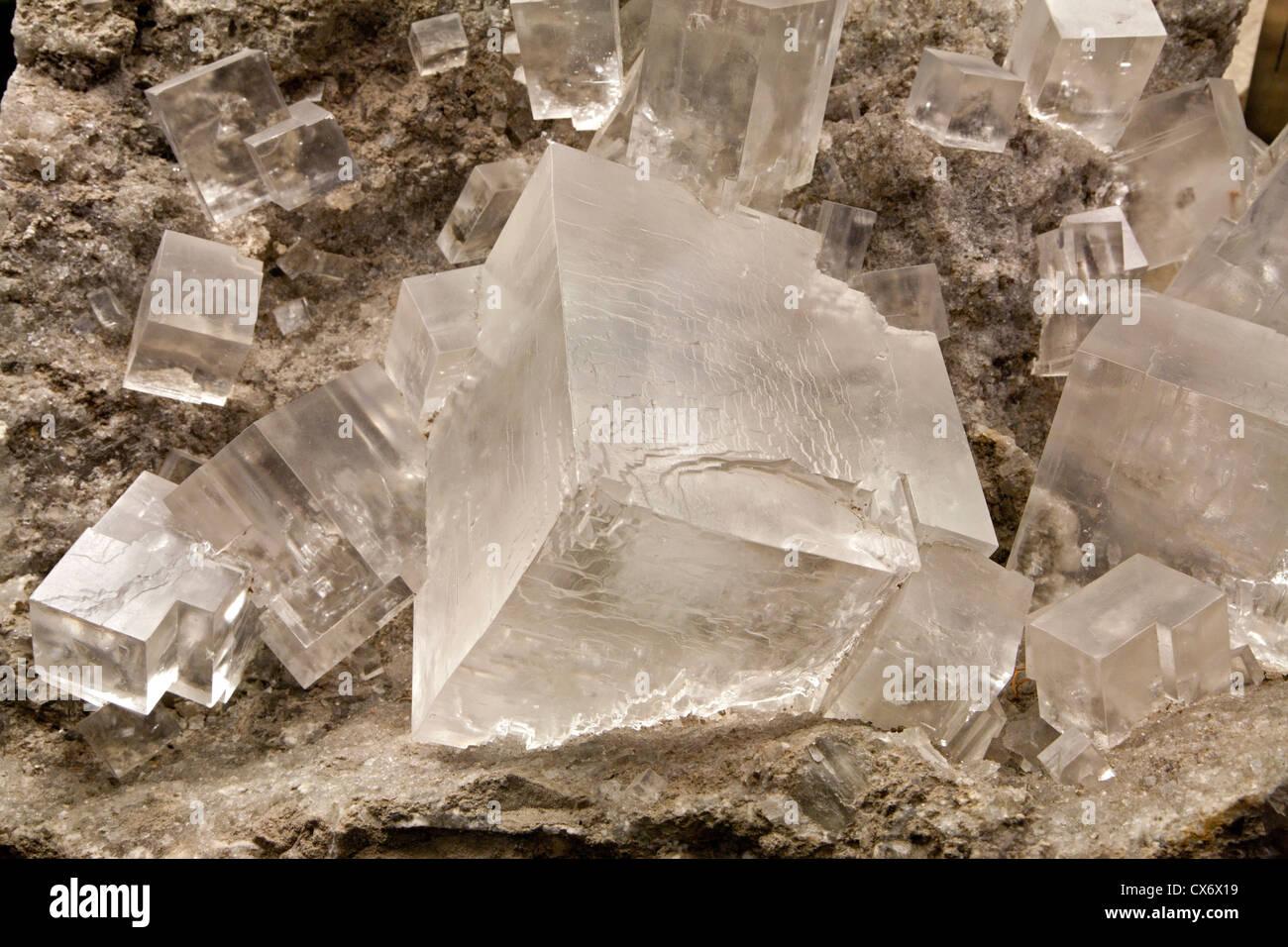 mineral salt cristal - Stock Image