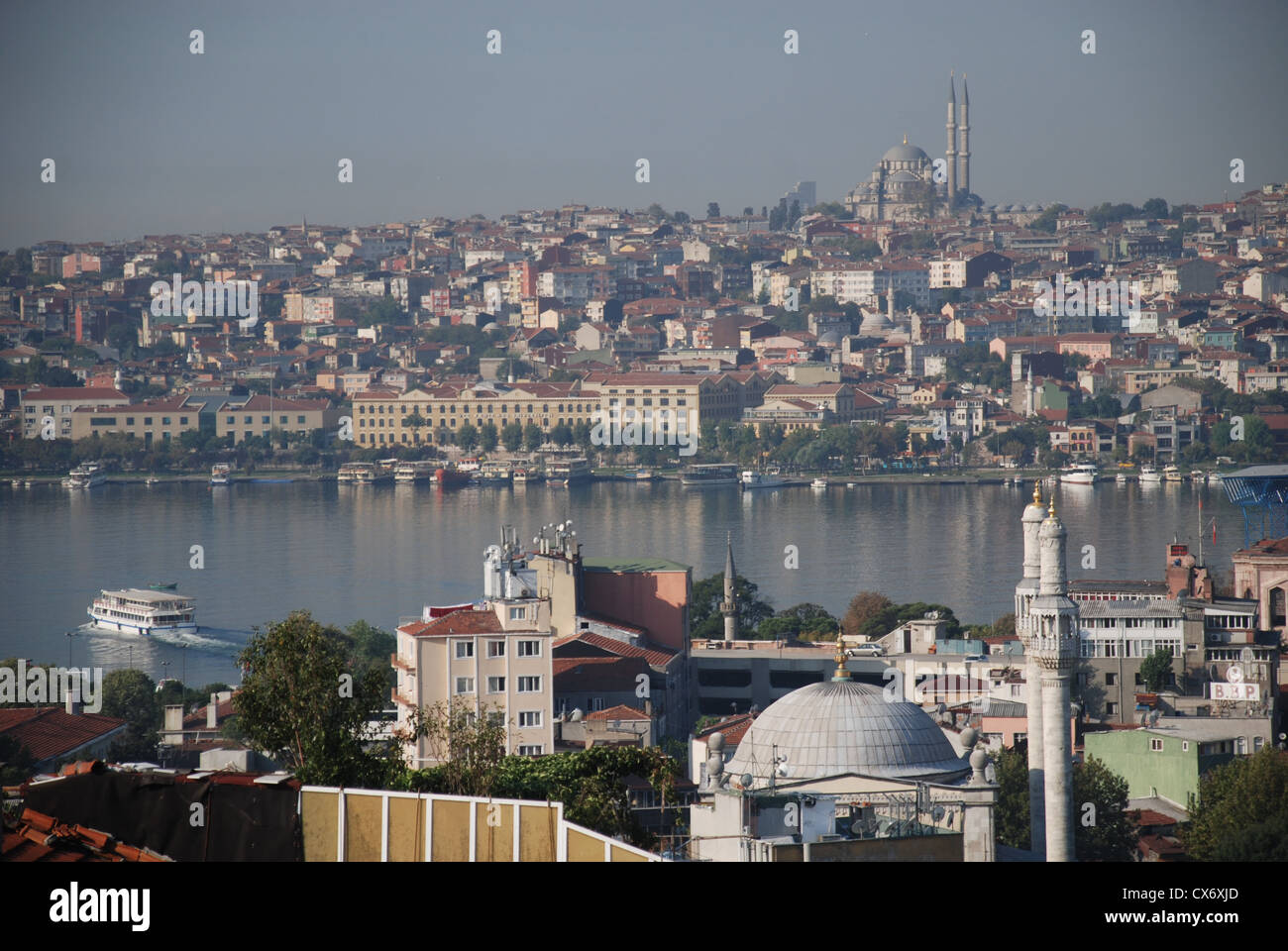 A view of the Golden Horn in Istanbul taken from Tepebasi. Picture by Adam Alexander/Alamy - Stock Image