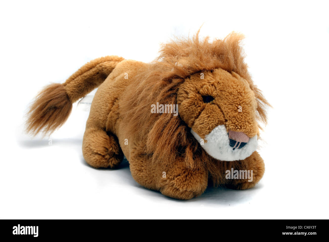 A-One Plush Toys lion. Cuddly toy approximately 45 cm from tip of nose to tip of tail - Stock Image