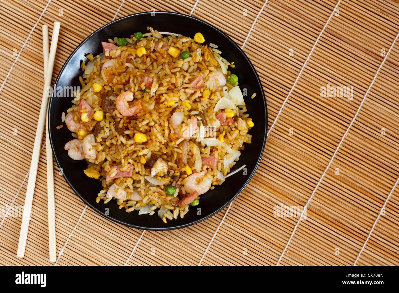 Special fried rice chinese food served at restaurants - Stock Image