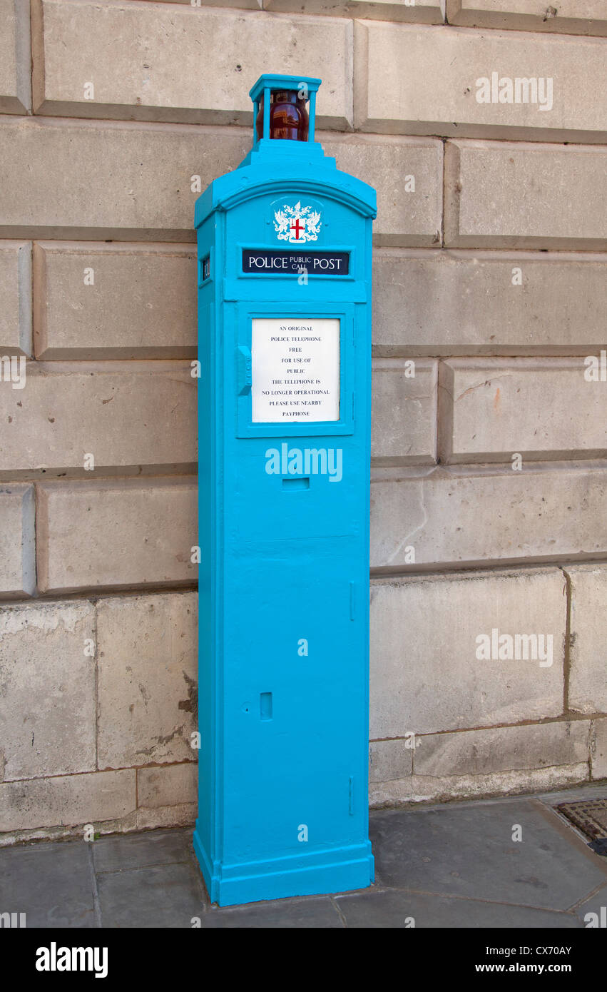Police phone box - Stock Image