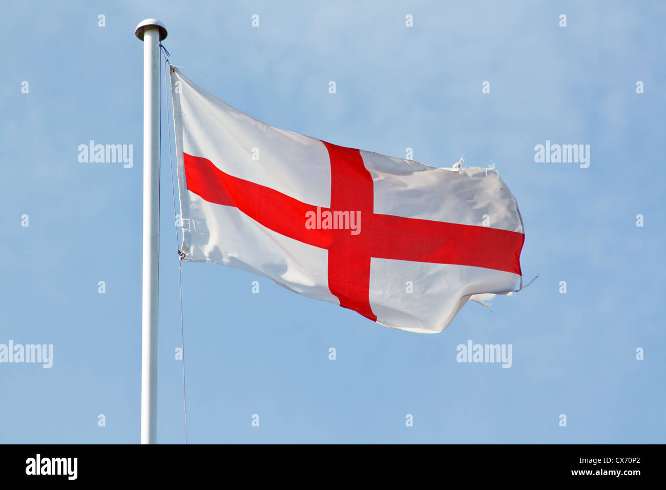 national flag of england and the english the st george's cross a red cross on white Stock Photo