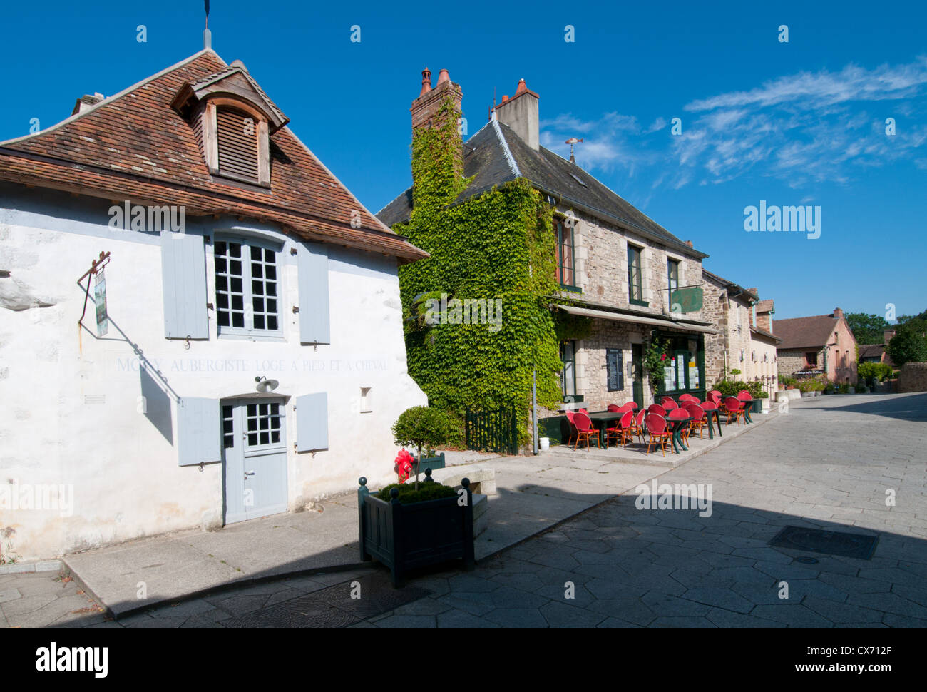 Saint-Céneri-le-Gérei, one of the prettiest villages in France, Orne, Basse-Normandie, France. Europe. - Stock Image