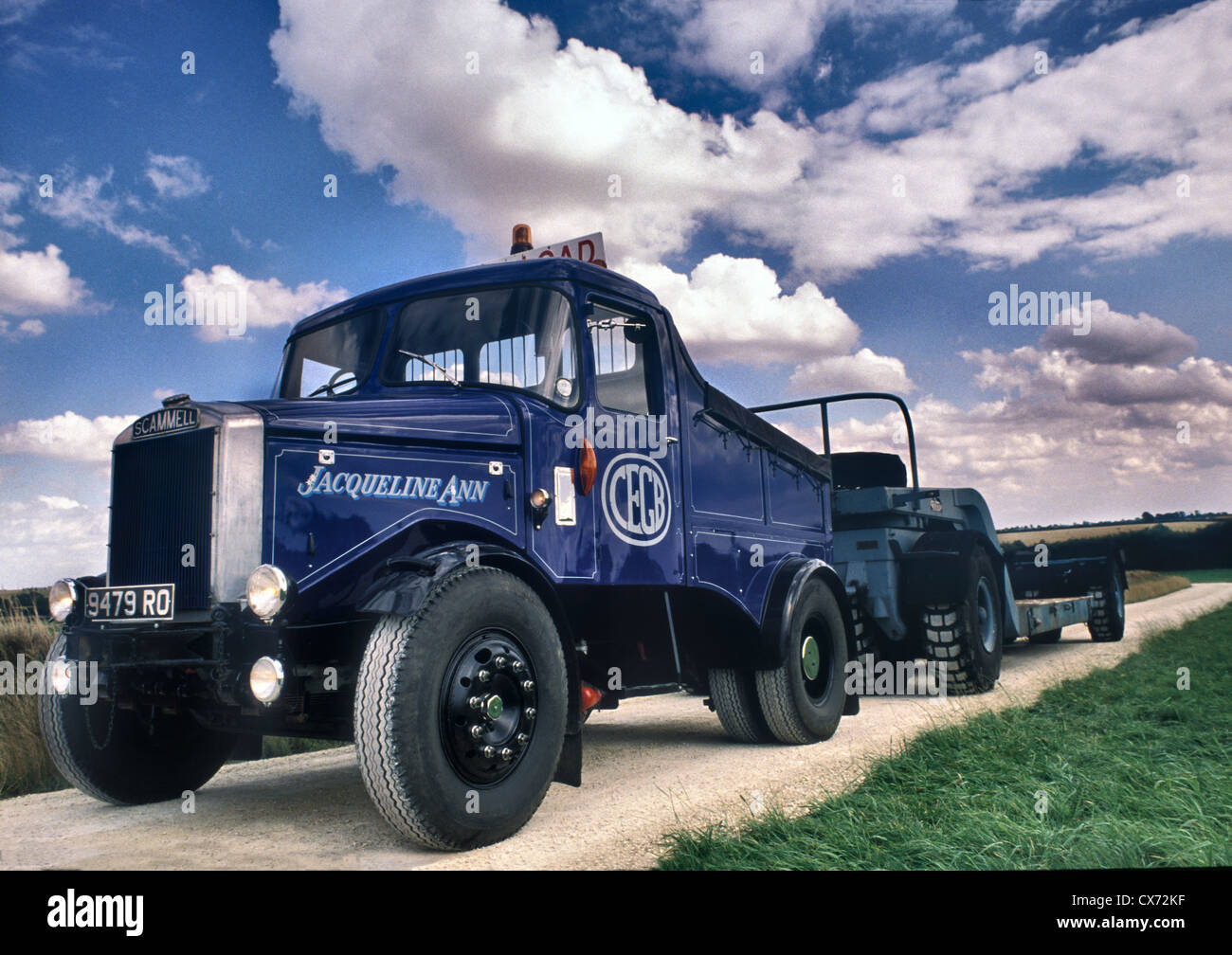 1950's Scammell Pioneer Heavy Haulage low loader lorry Stock Photo