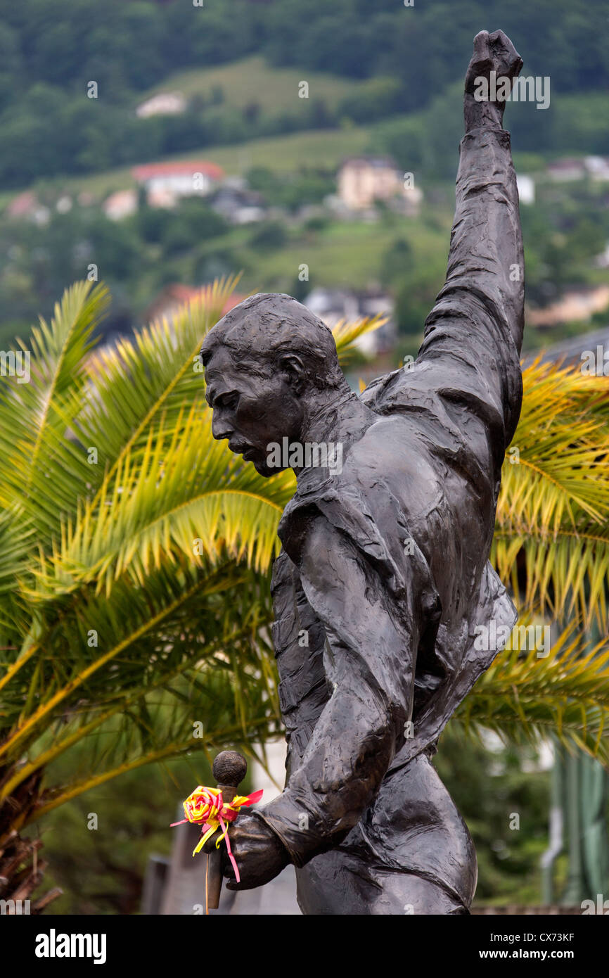Memorial to Freddie Mercury - Montreux - Switzerland Stock Photo