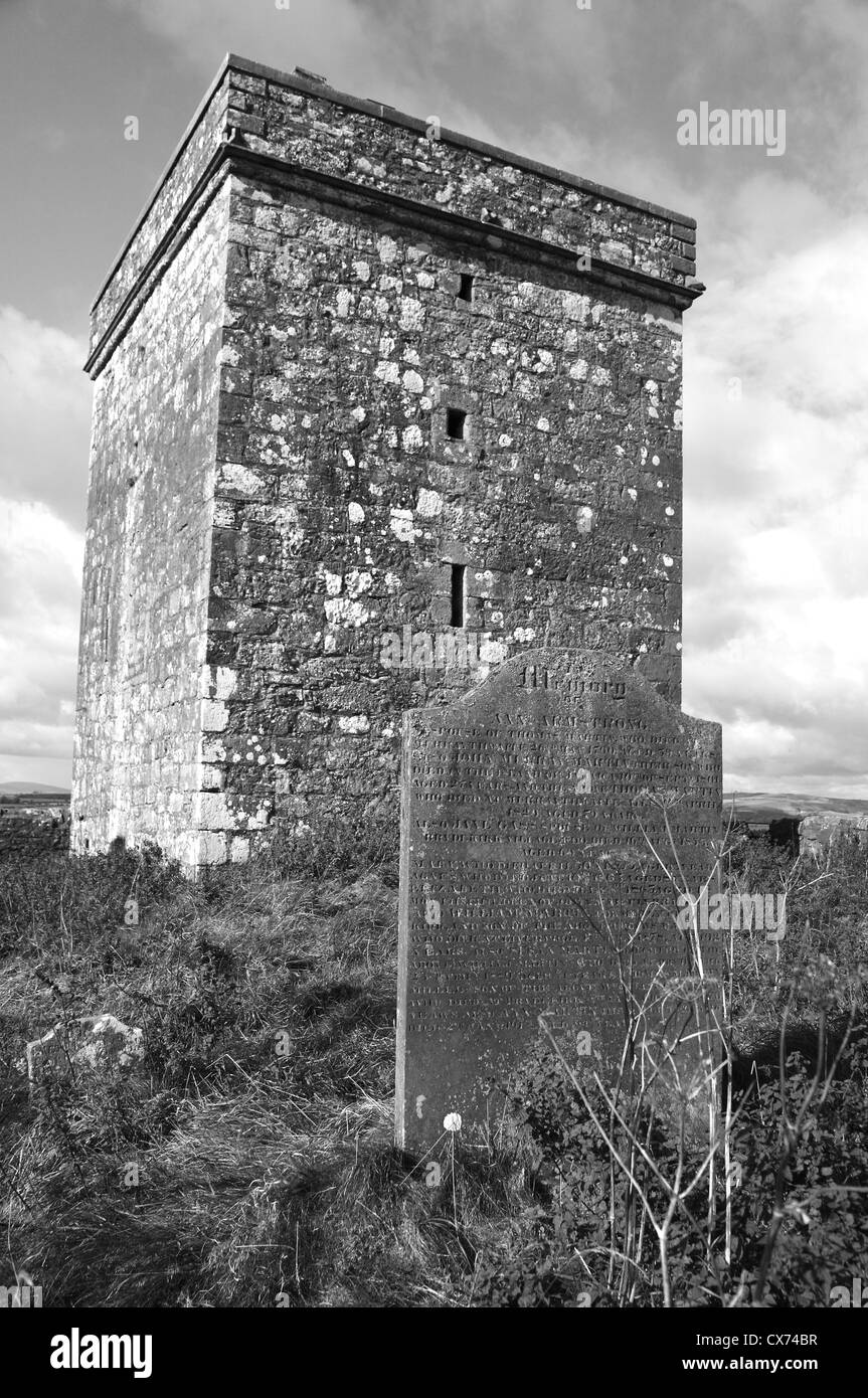 Stone tower, Southern Scotland - Stock Image