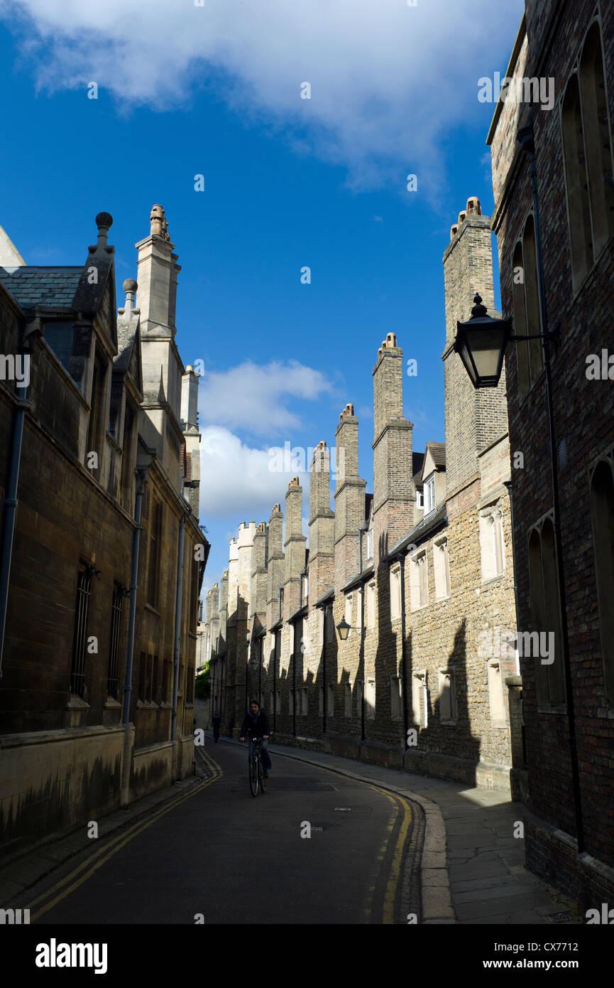 Trinity Lane, Trinity College, Cambridge - Stock Image