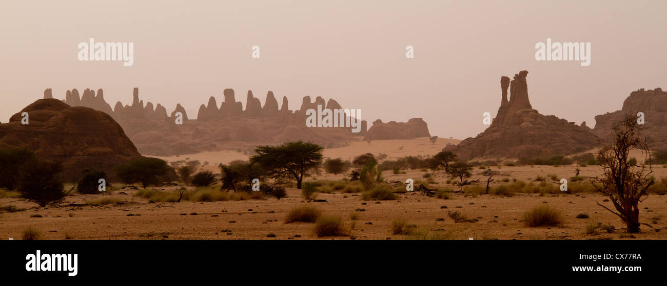 ennedi mountains chad - Stock Image