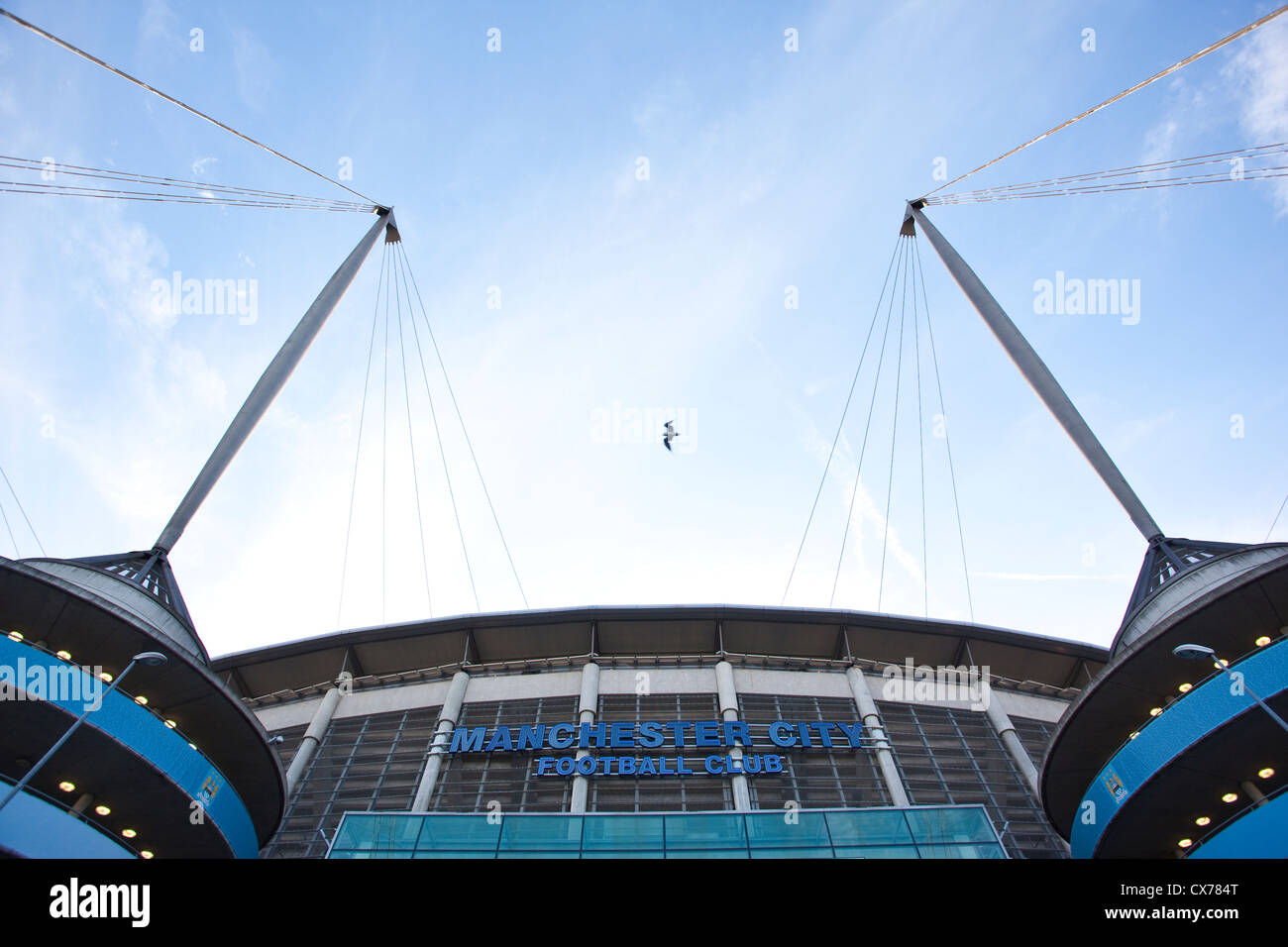 Manchester City Etihad Stadium, Manchester, England, United Kingdom - Stock Image