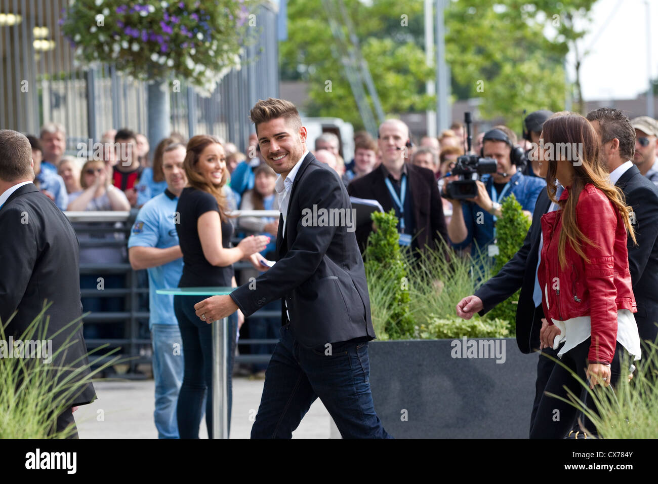 Javi Garcia footballer arriving at the Etihad Stadium, Manchester City Football Club, Manchester, England, United - Stock Image