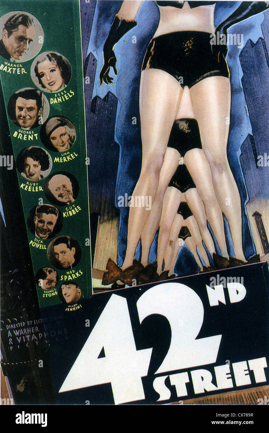 42nd STREET  Poster for 1933 Warner Bros film musical Stock Photo