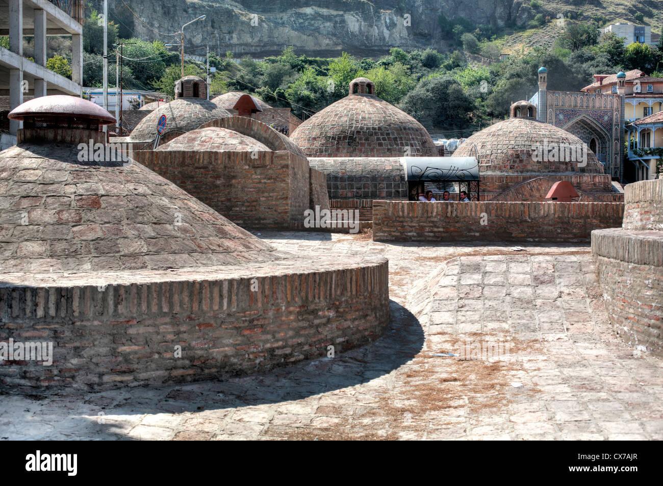 Sulphur Bathhouses, Tbilisi, Georgia Stock Photo