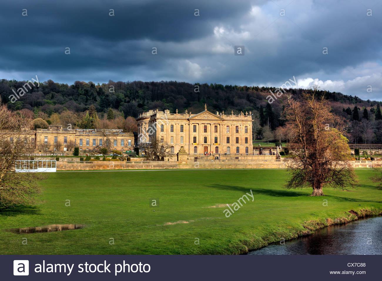Chatsworth House, North Derbyshire, UK - Stock Image