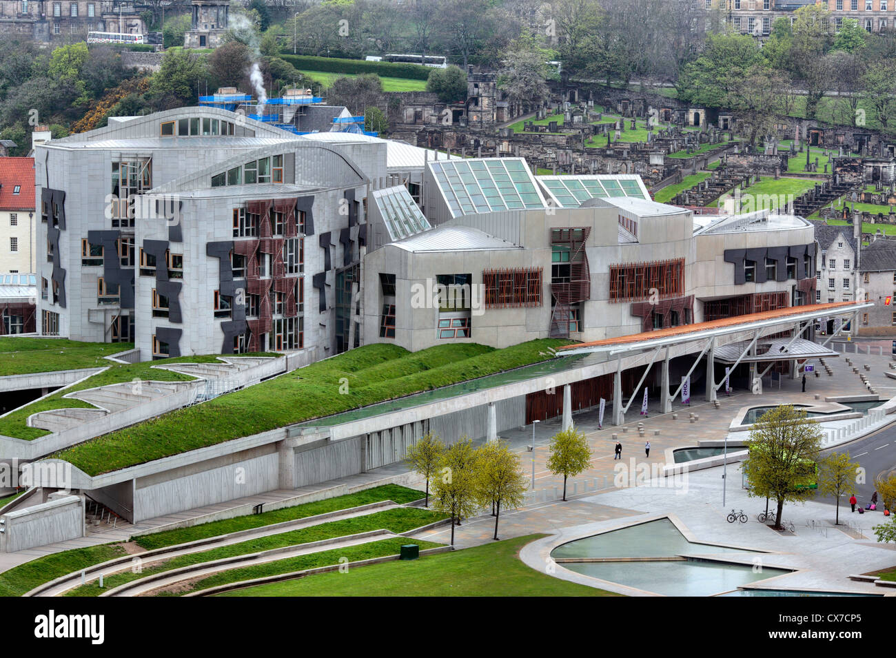 Scottish Parliament Building, Holyrood, Edinburgh, Scotland, UK - Stock Image