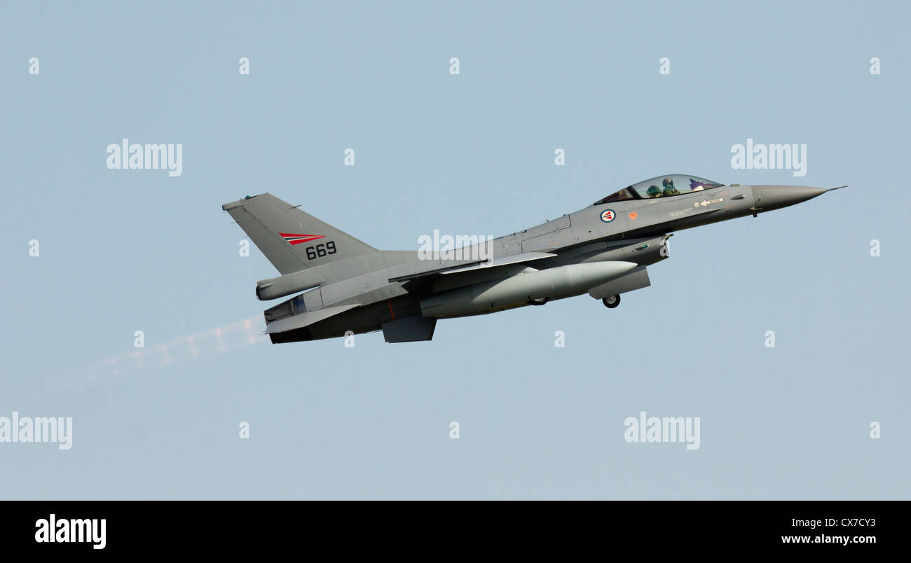 F-16 Fighting Falcon Aircraft of the Royal Norwegian Air Force - Stock Image