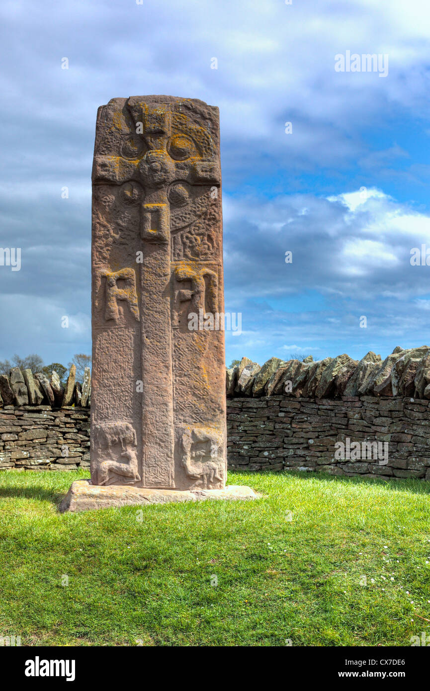 Pictish carved stone, Aberlemno, Angus, Scotland, UK Stock Photo