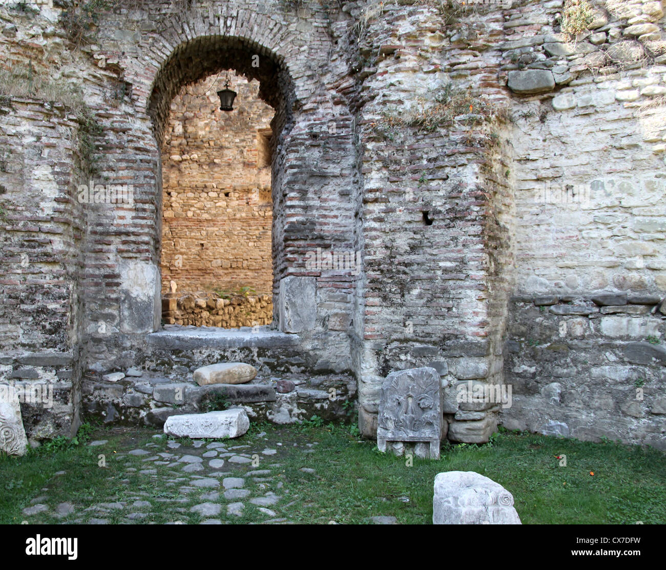 The Fortress of Elbasan in Central Albania - Stock Image