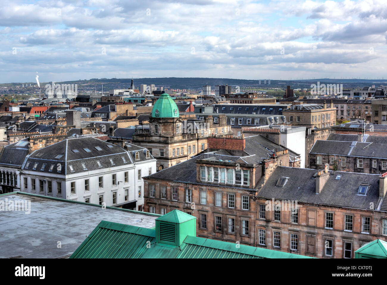 View of the city from Glasgow School of Art, Glasgow, Scotland, UK - Stock Image