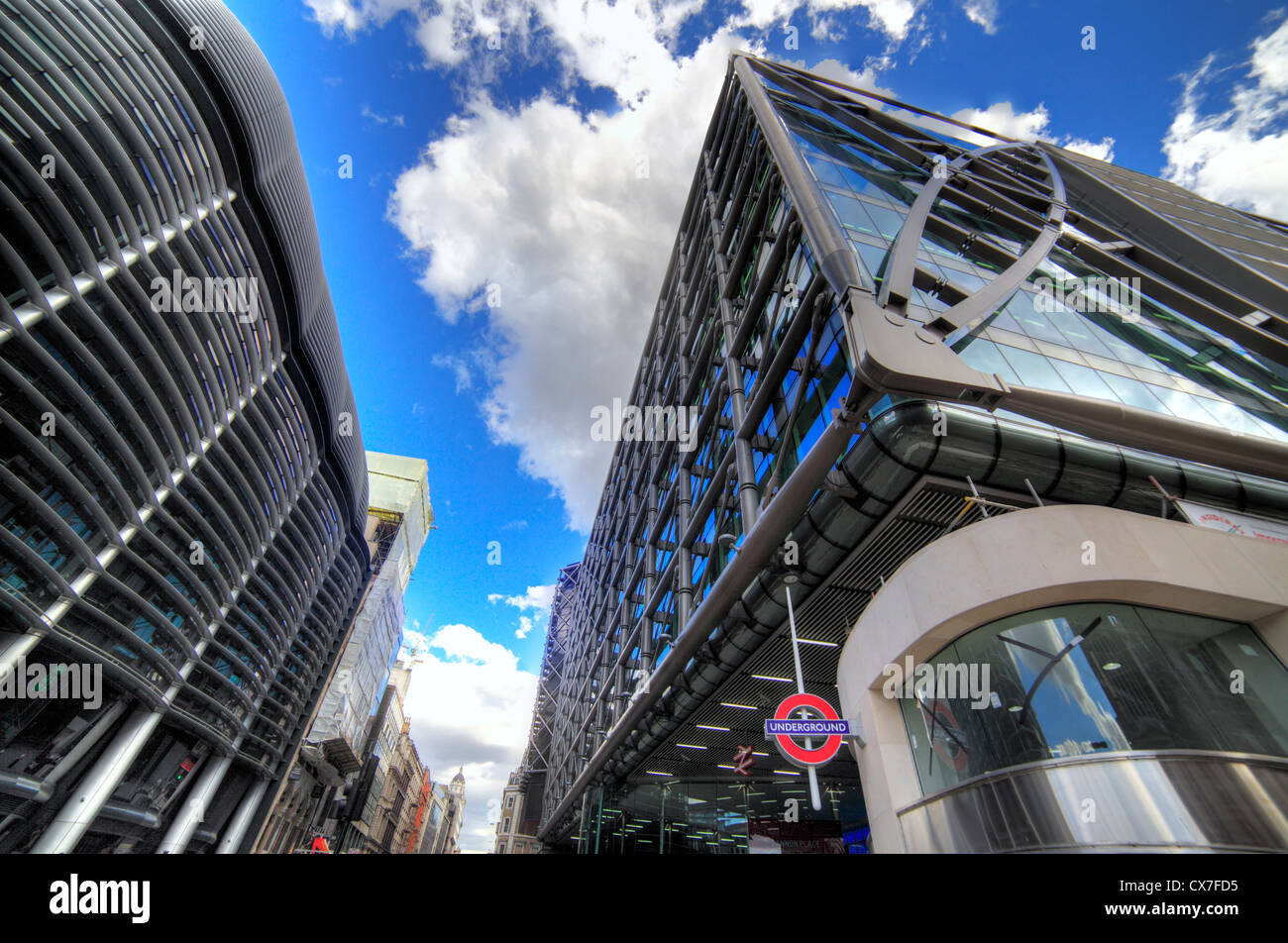 Cannon Place Office development and entrance to Cannon Street Station, London, UK - Stock Image