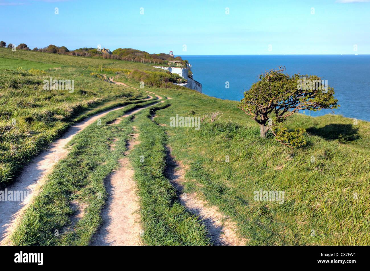 White Cliffs of Dover, Dover, Kent, England, UK - Stock Image
