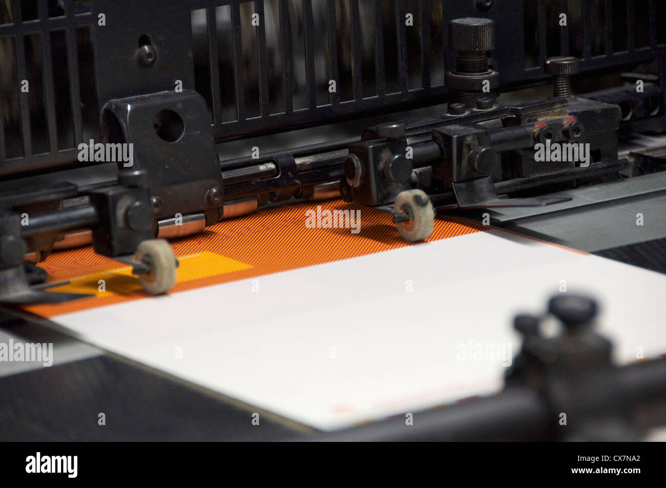 Offset printing machine - Stock Image