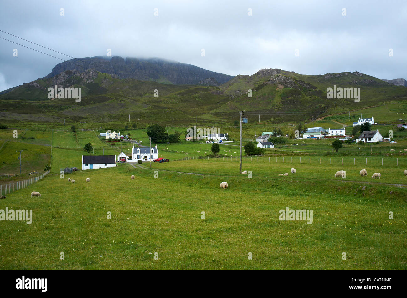 Croft Houses, Digg, Staffin, Isle of Skye, North West Scotland - Stock Image
