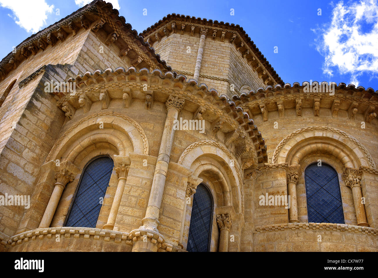 Church of Saint Martin, Iglesia de San Martin in Fromista, Spain. - Stock Image