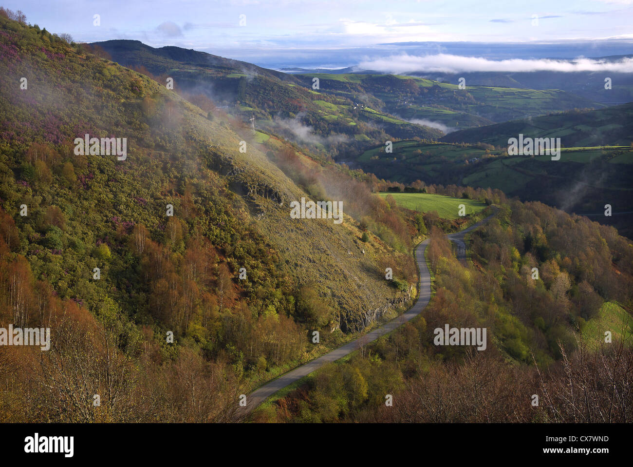 Countryside near Linares in the Galicia region of Spain. - Stock Image