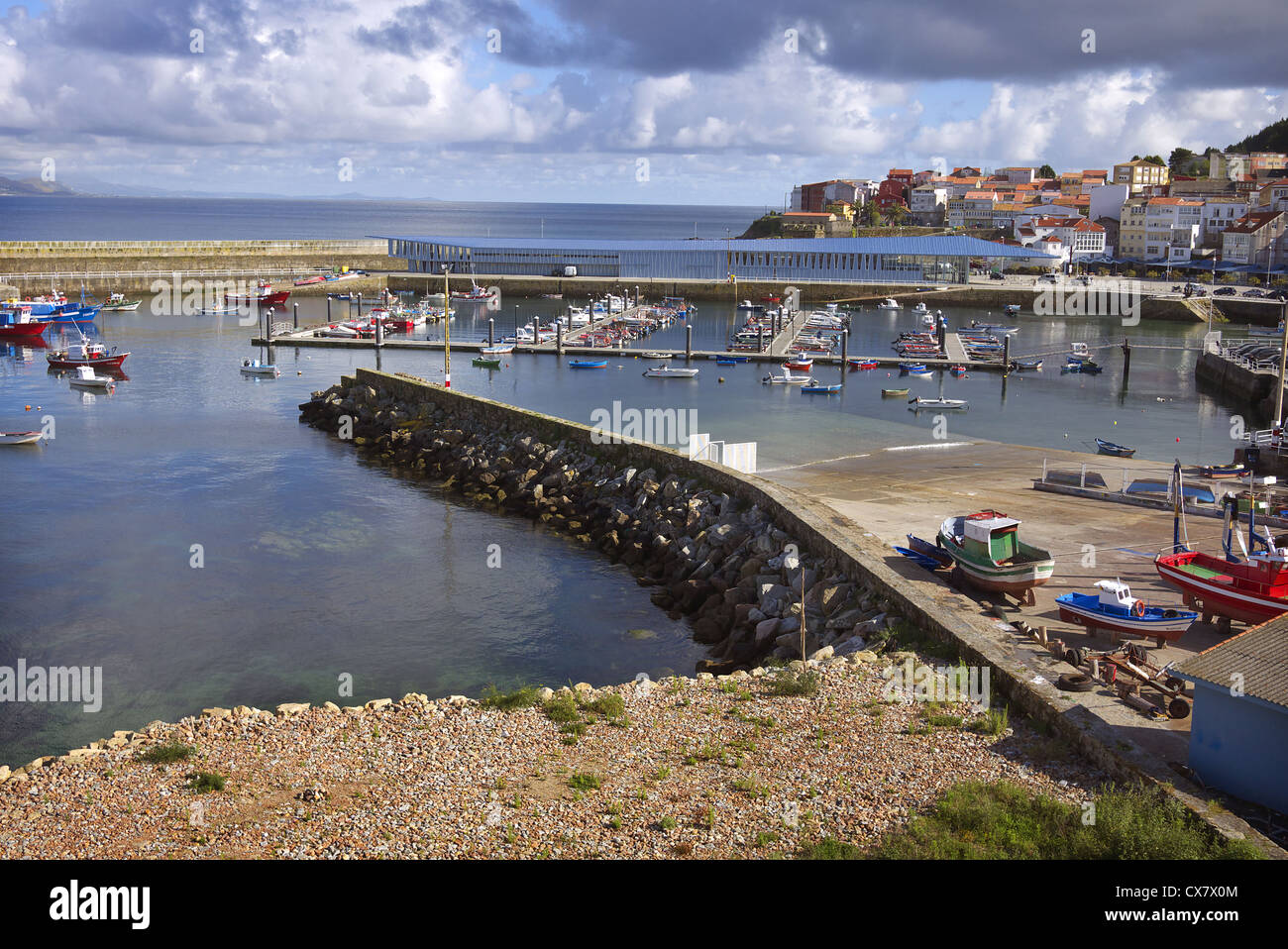 Finisterre harbour, Galicia, Spain. - Stock Image