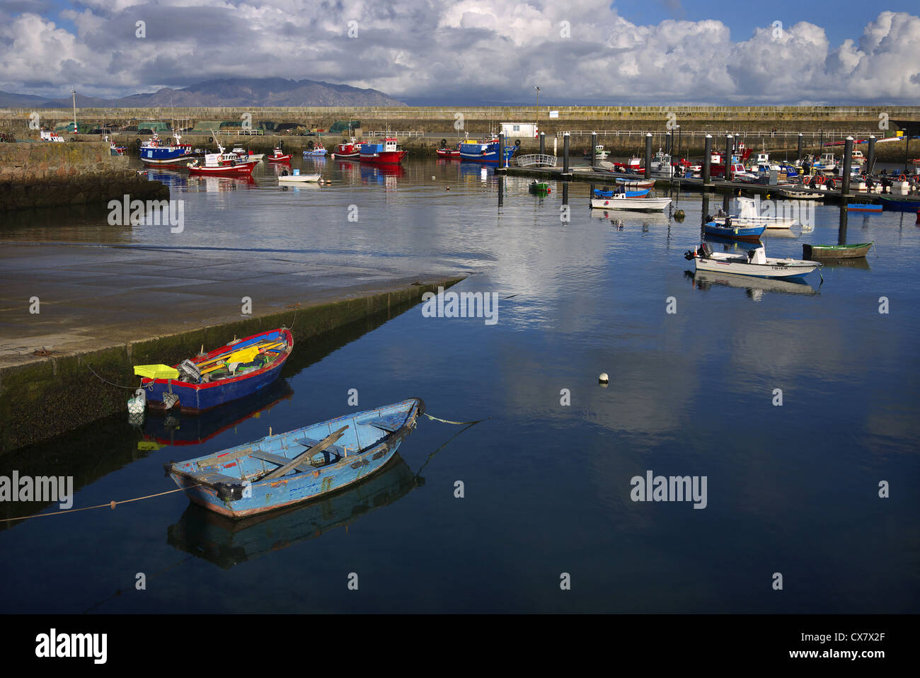 The harbour at Finisterre, Galicia, Spain. - Stock Image
