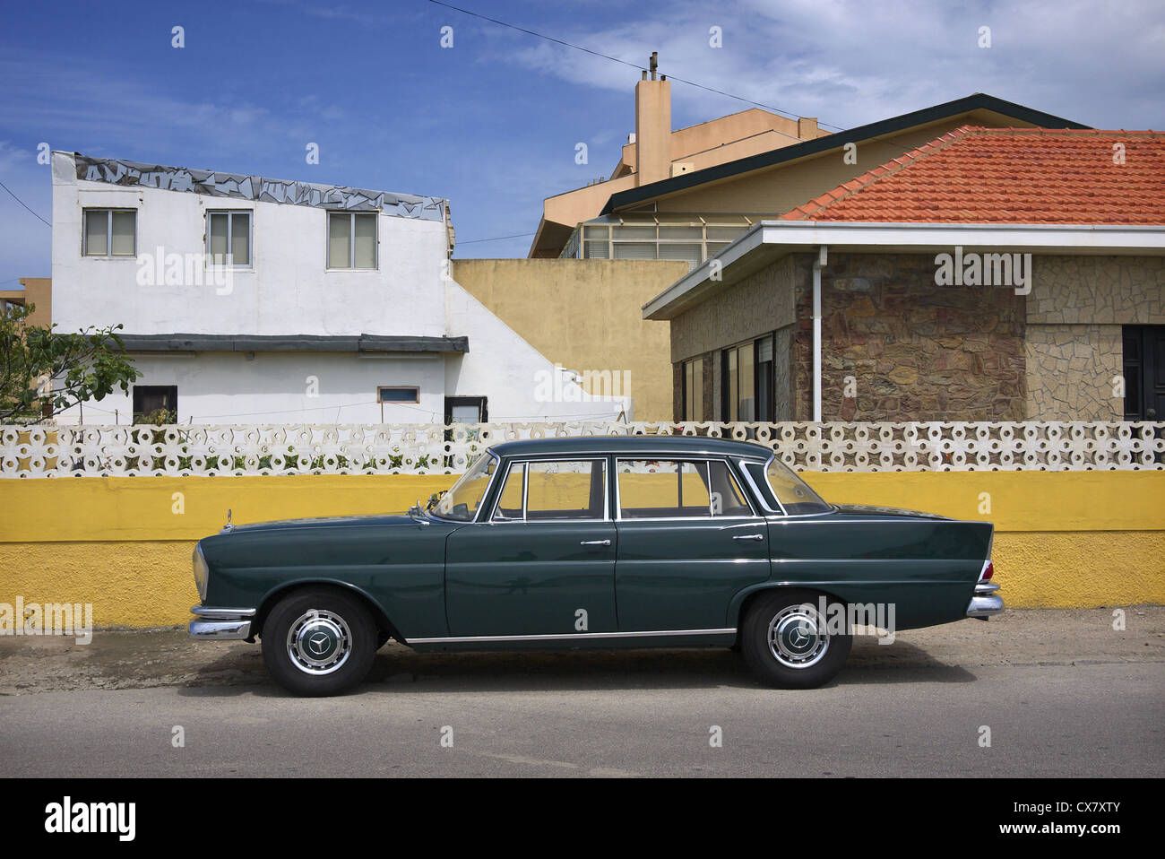 Classic Mercedes, Portugal. - Stock Image
