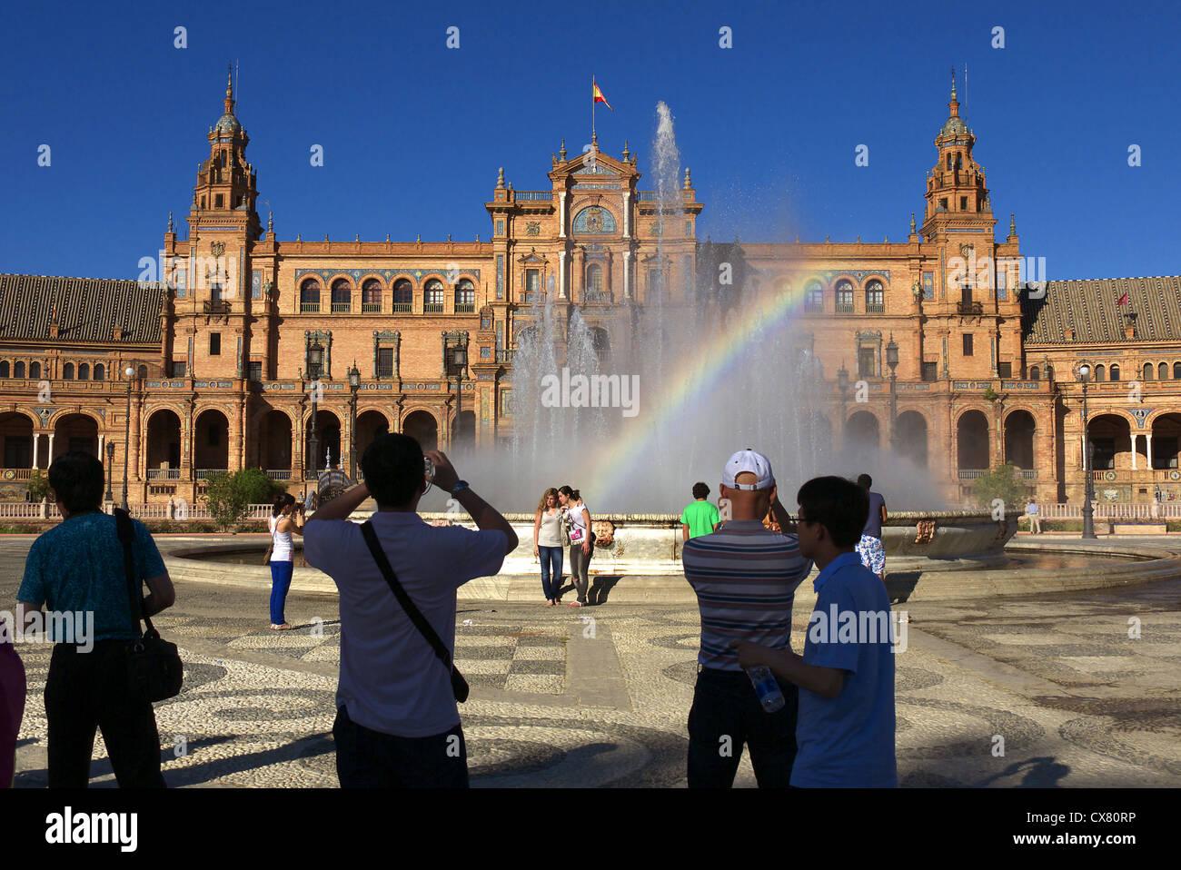 Plaza de Espana in Seville, Spain. - Stock Image