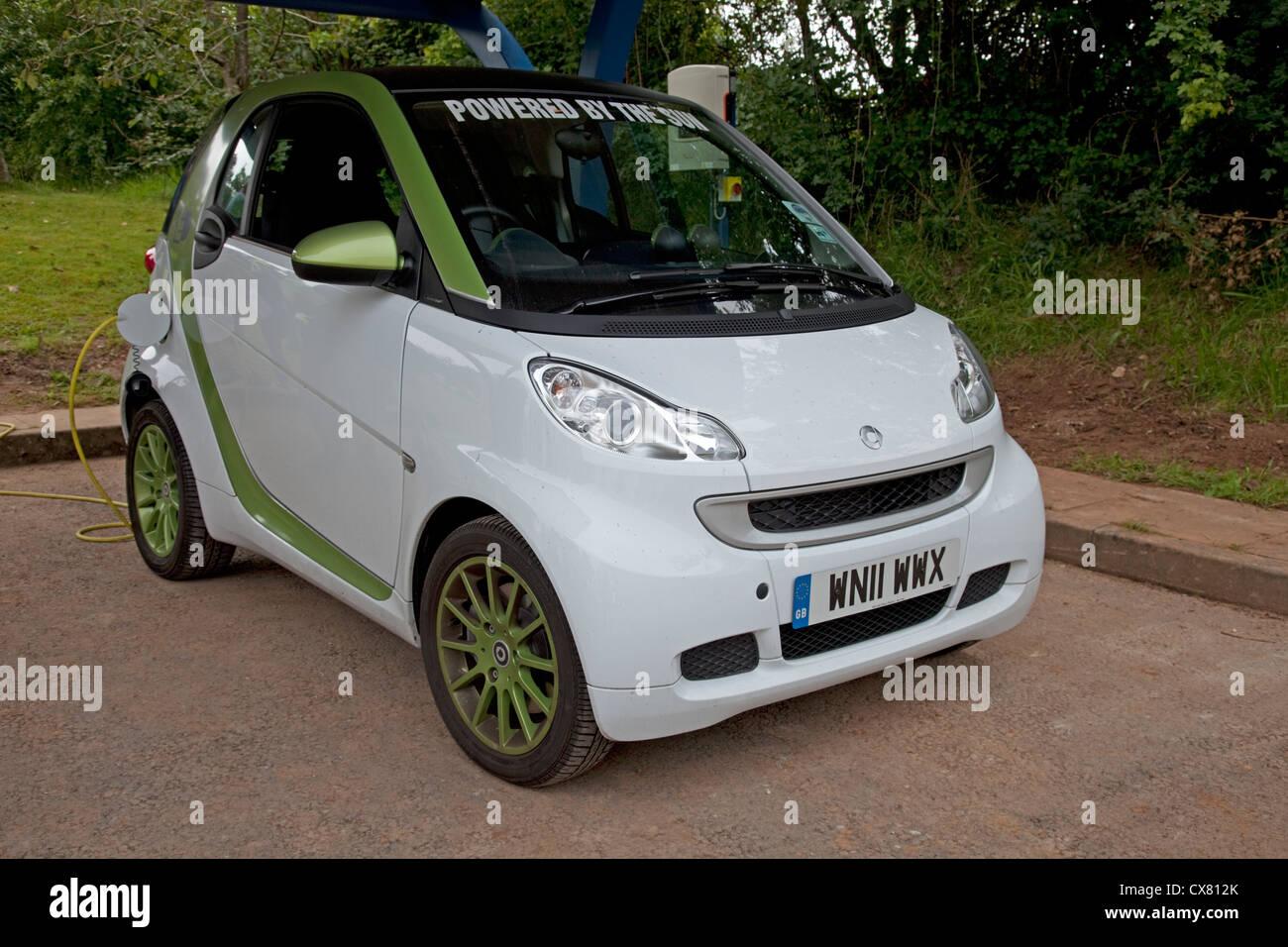 Electric Smart car parked UK - Stock Image