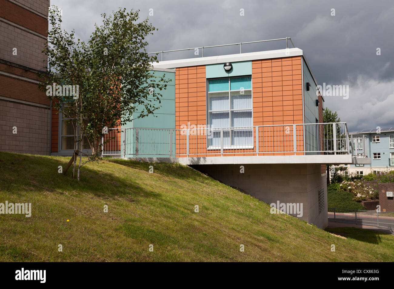 exterior of the Haematology department of Southampton General Hospital - Stock Image
