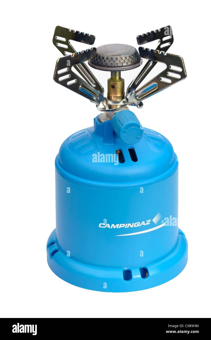 Campingaz stove. Camping gas cooker. - Stock Image