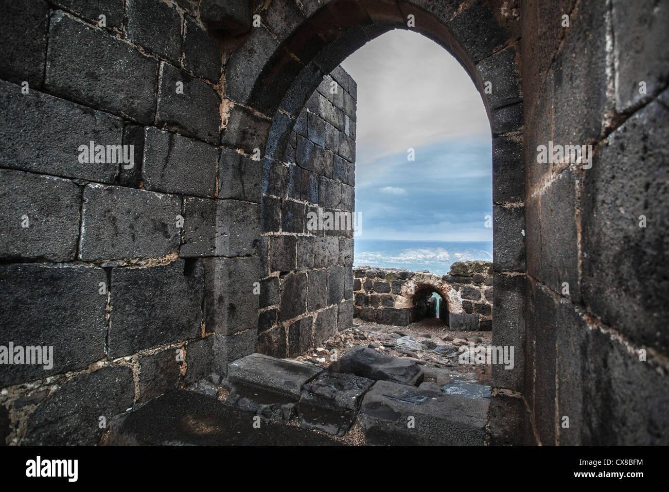Belvoir Fortress Kokhav Ha Yarden National Park; Israel Stock Photo