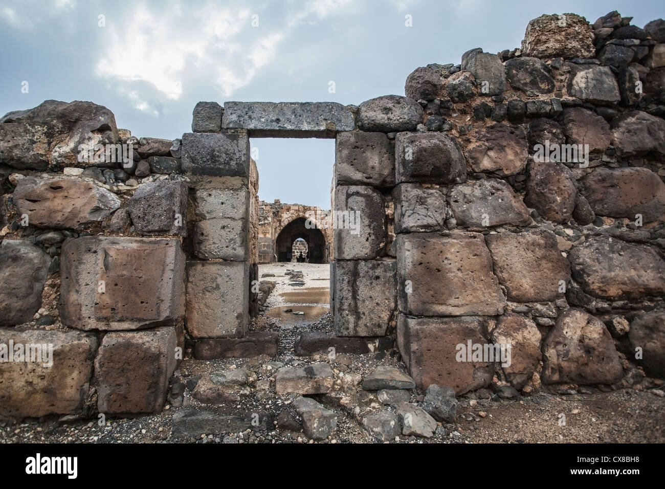 Belvoir Fortress Kokhav Ha Yarden National Park; Israel Stock Photo
