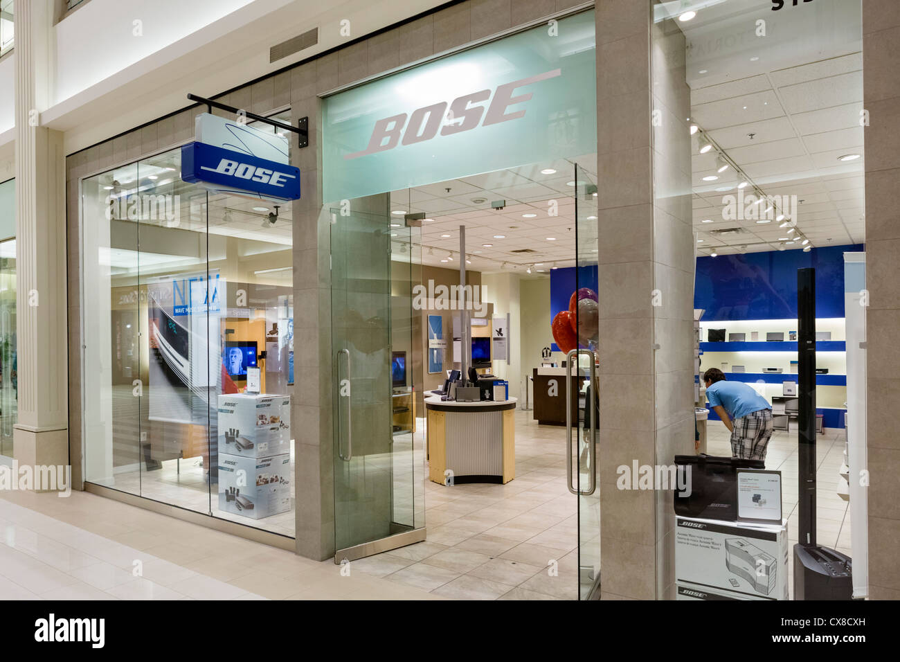 Bose store in the Mall of America, Bloomington, Minneapolis, Minnesota, USA - Stock Image