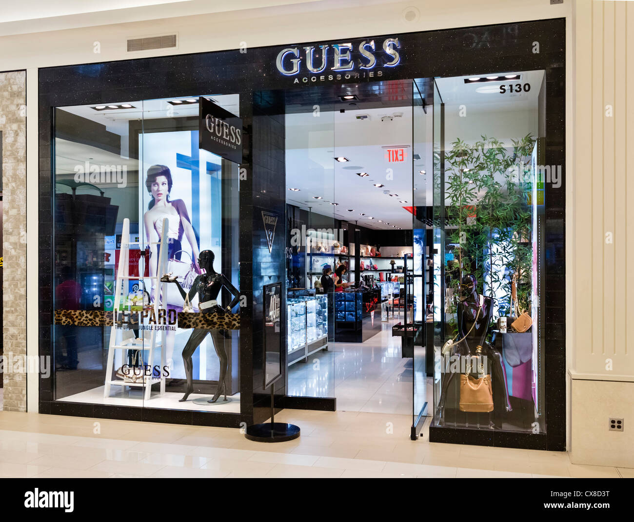 Guess Accessories store in the Mall of America, Bloomington, Minneapolis, Minnesota, USA - Stock Image