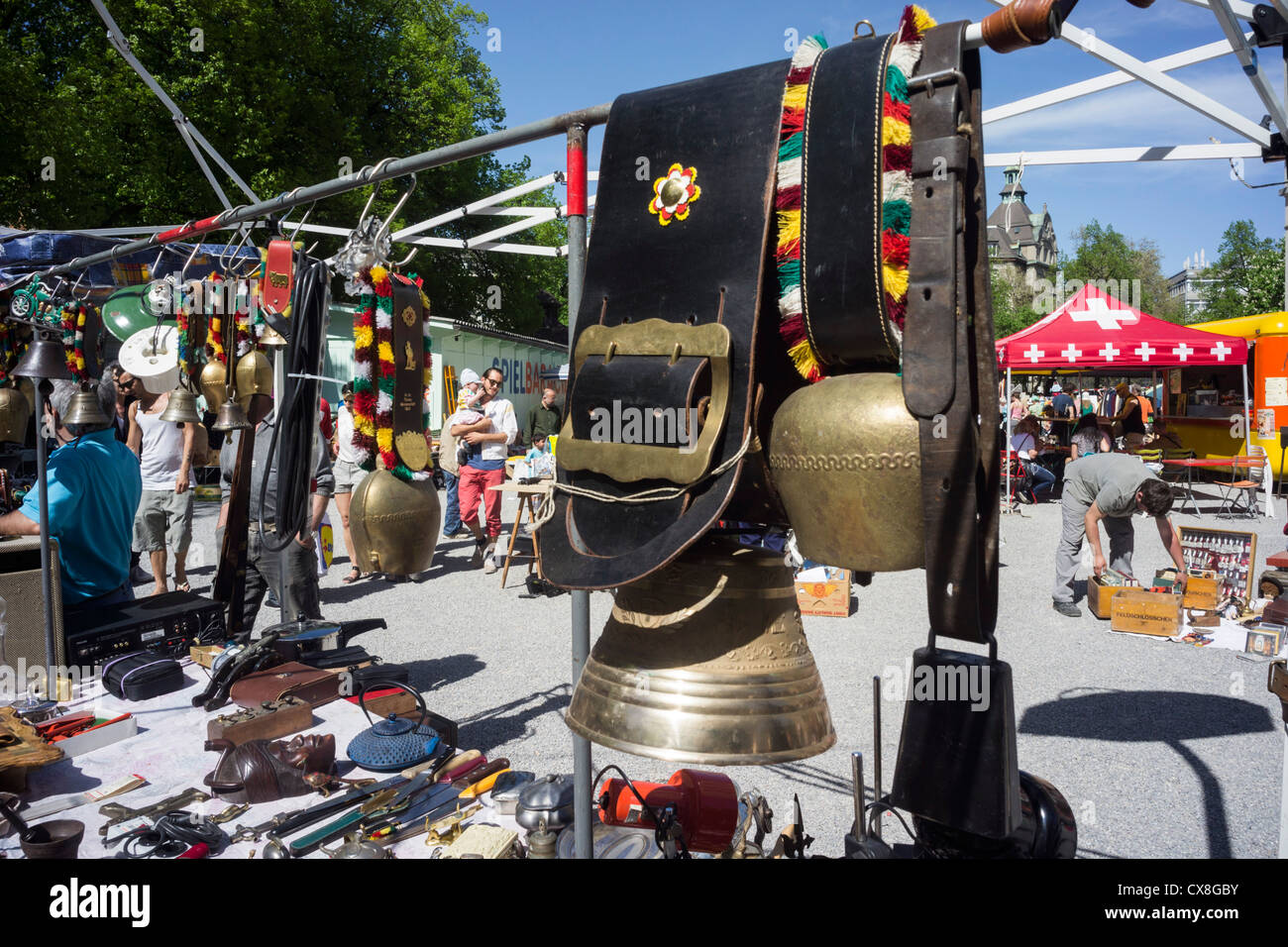 Kanzlei Flea Market , Zurich, Switzerland - Stock Image