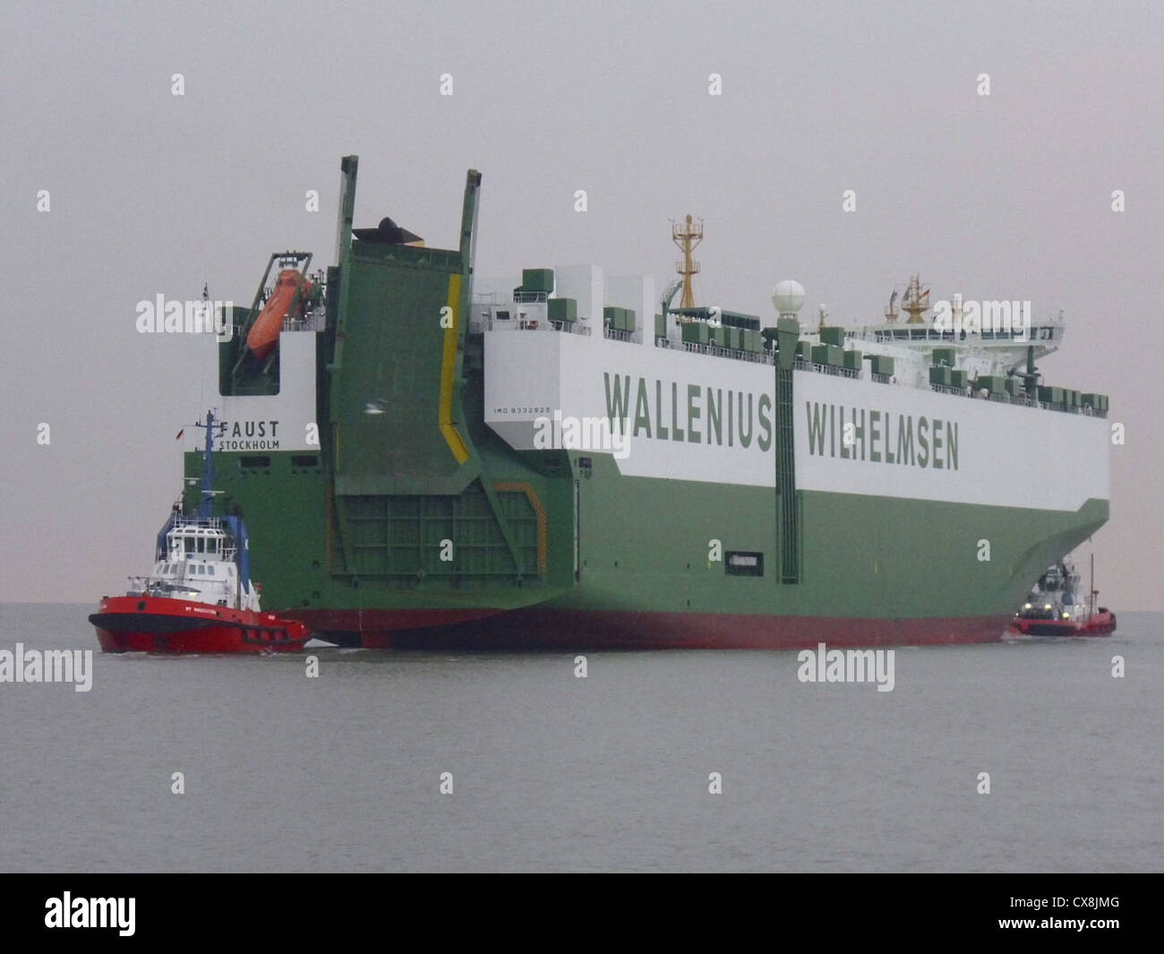 The car carrier '''Faust''' on the river Weser. Stock Photo