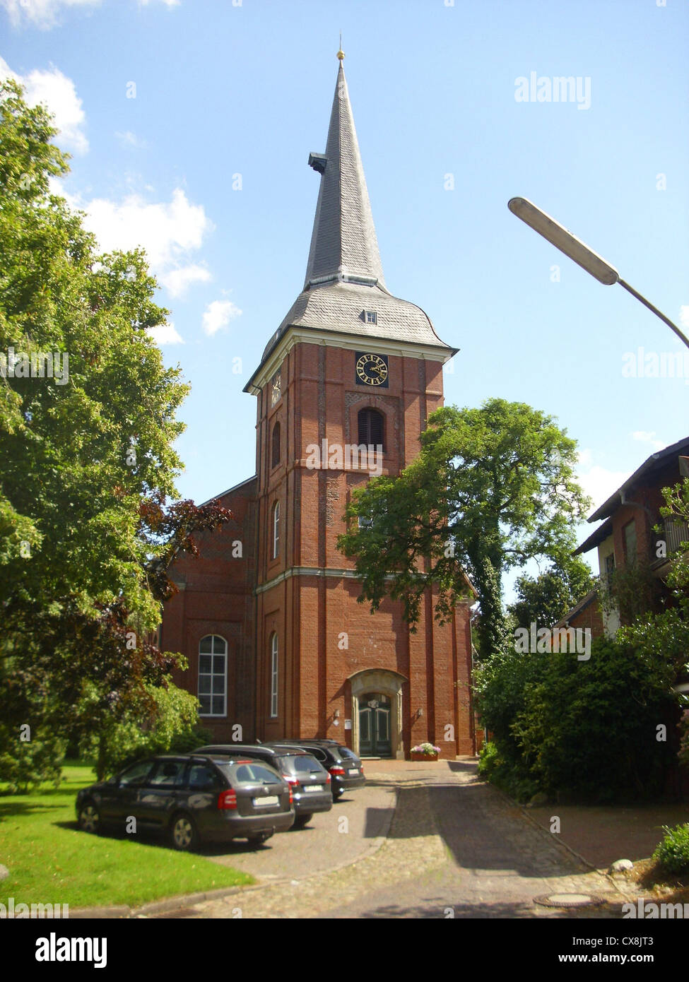 The St. Peter Church in Osten, district of Cuxhaven, Lower Saxony, Germany - Stock Image