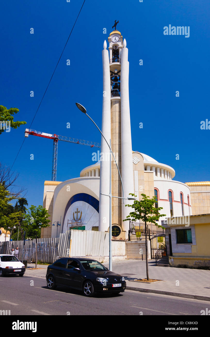 New Orthodox Cathedral in Tirana, Albania - Stock Image