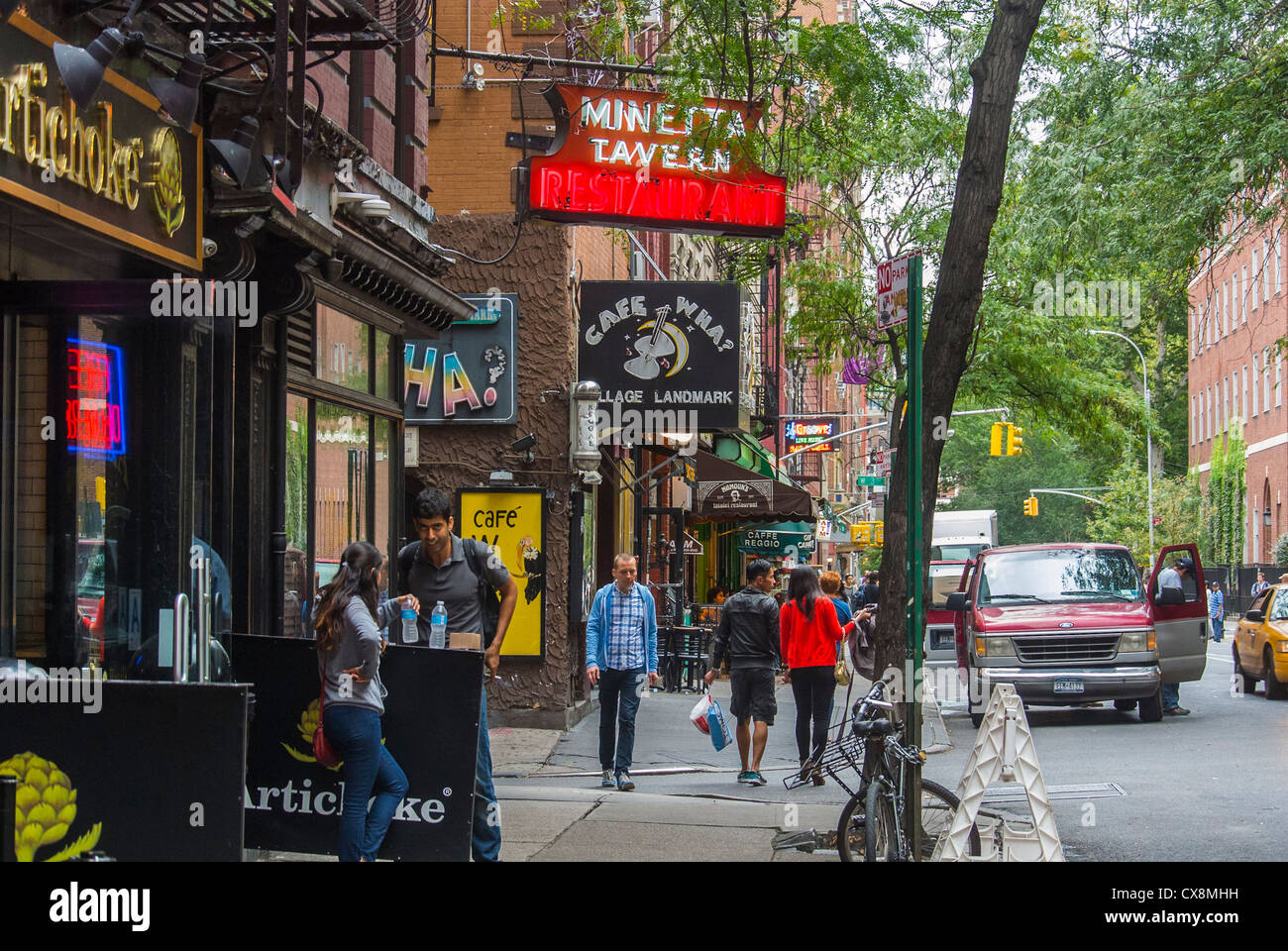 new york ny usa west village shopping street scenes signs