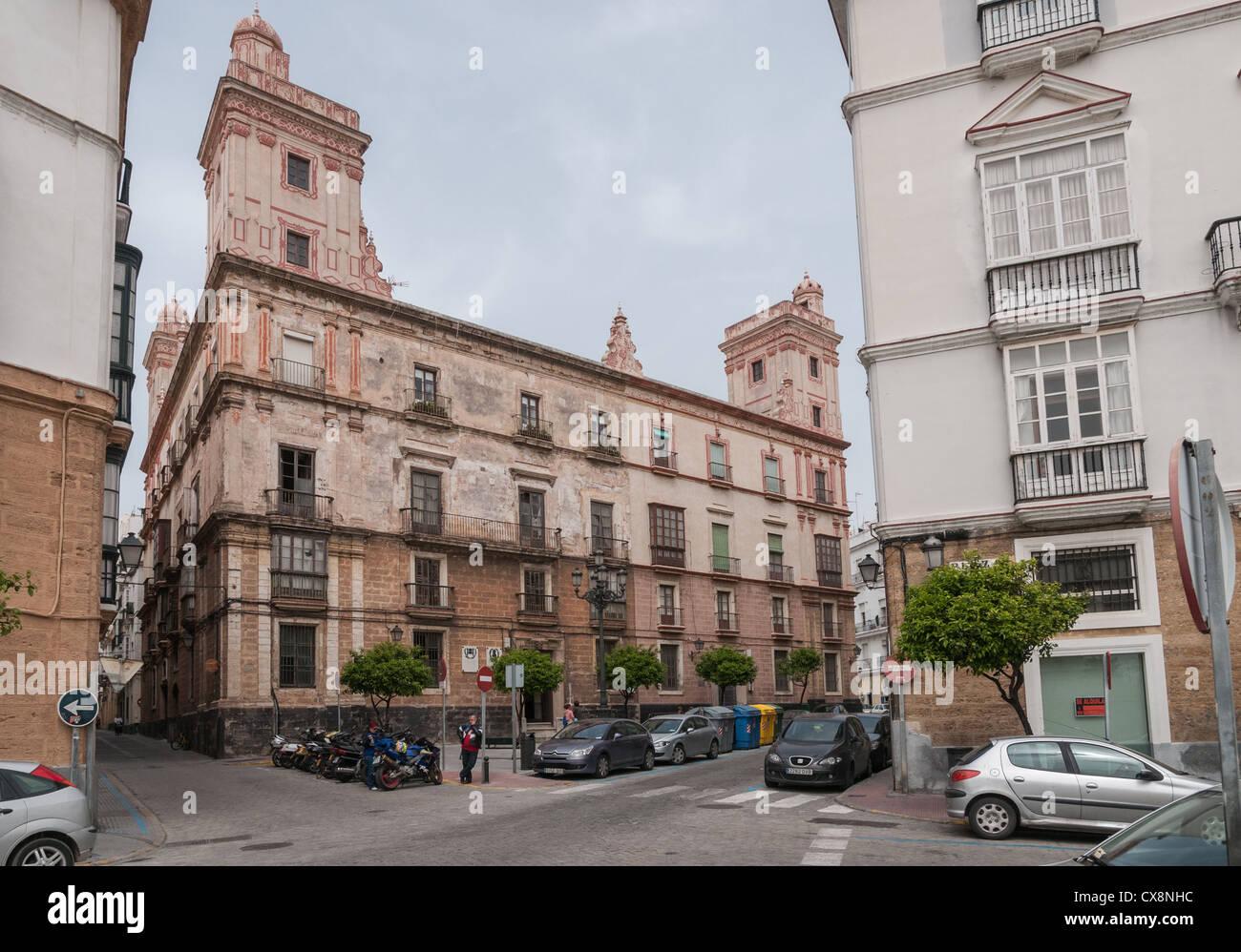 Casa de las cuatro torres, Cadiz (Andalusia, Spain) - Stock Image