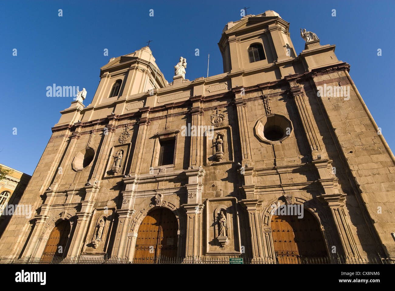 Elk198-1077 Chile, Santiago, Iglesia Santo Domingo church - Stock Image
