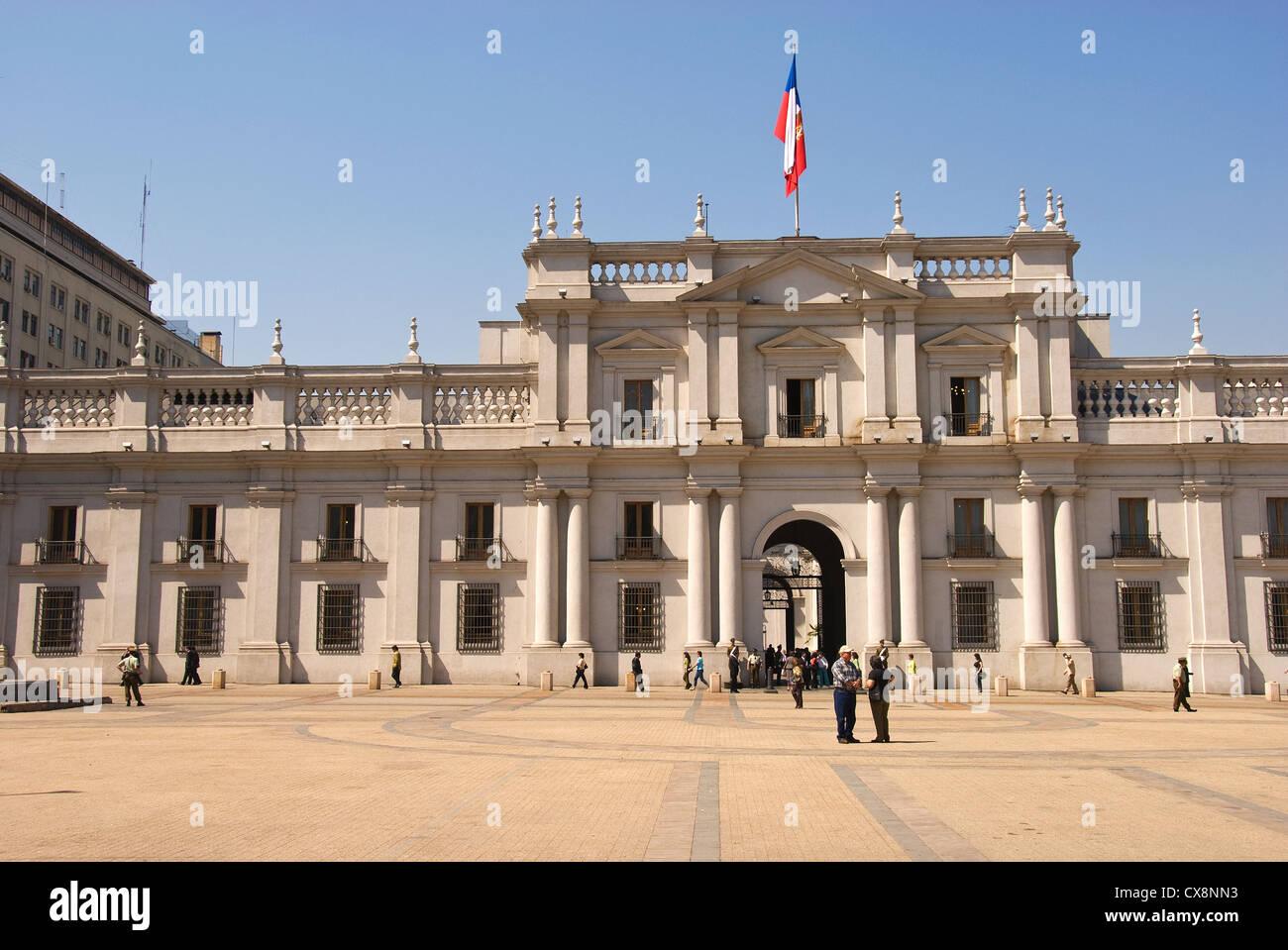 Elk198-1106 Chile, Santiago, Palacio de la Moneda, Presidential Palace - Stock Image