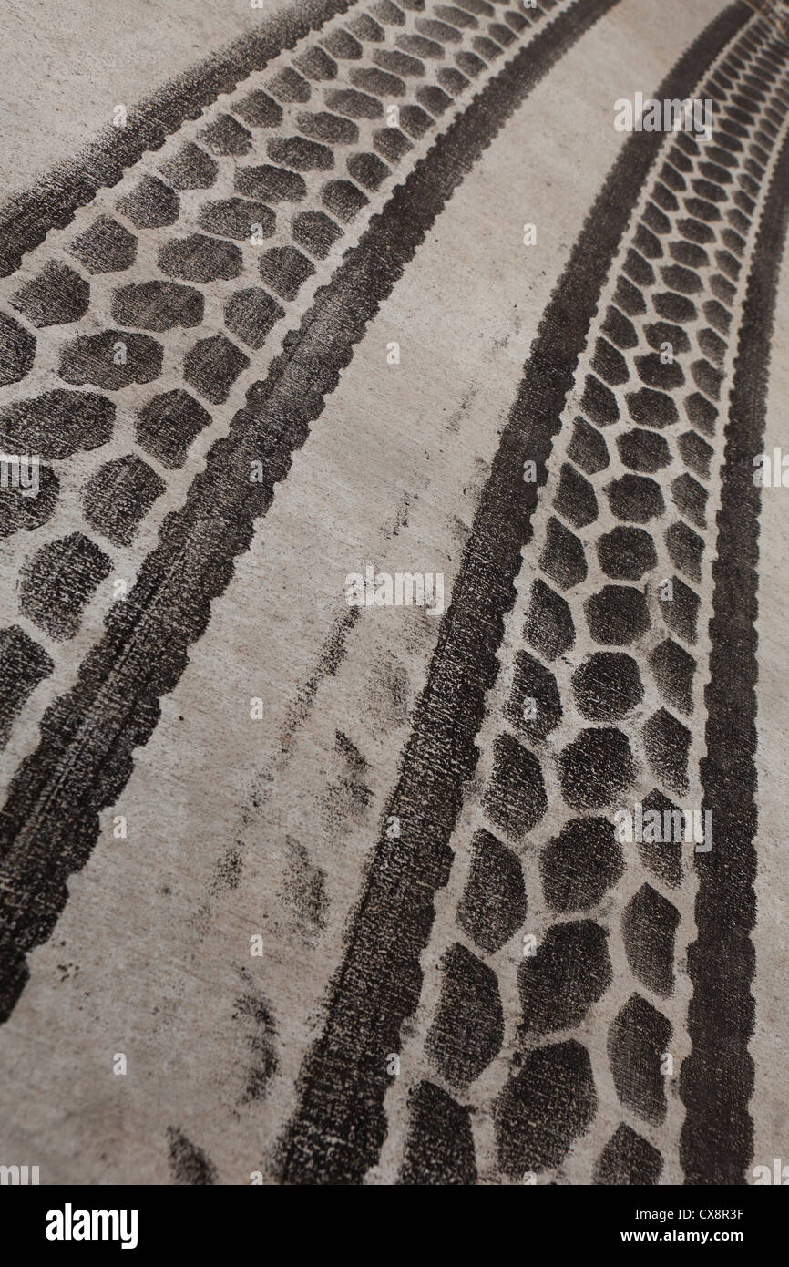 Tire tracks - Stock Image