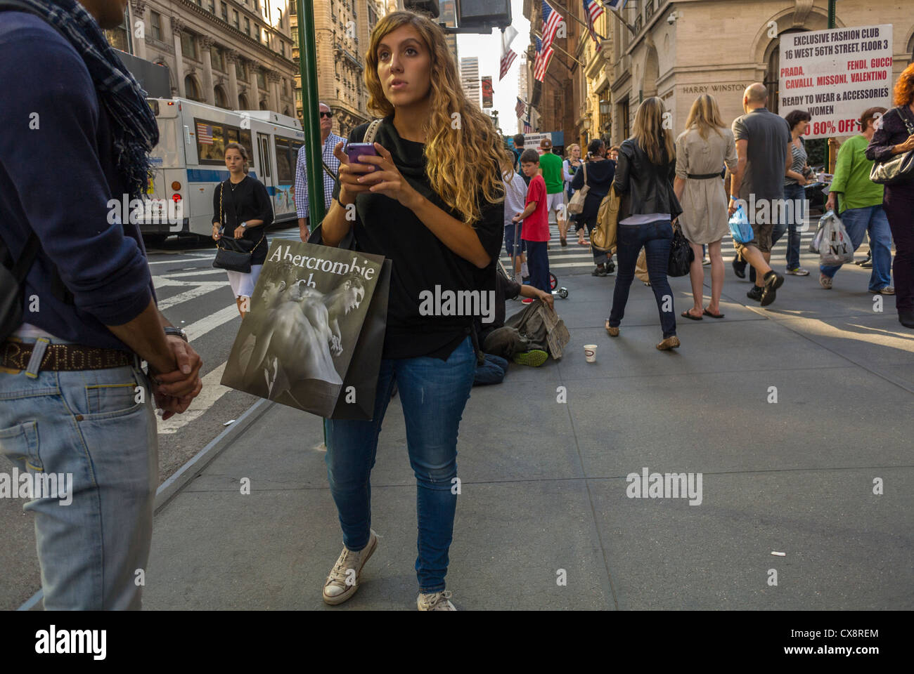 New York, NY, USA, People Shopping, Street Scenes, Luxury Shops on Fifth Avenue, Manhattan , - Stock Image