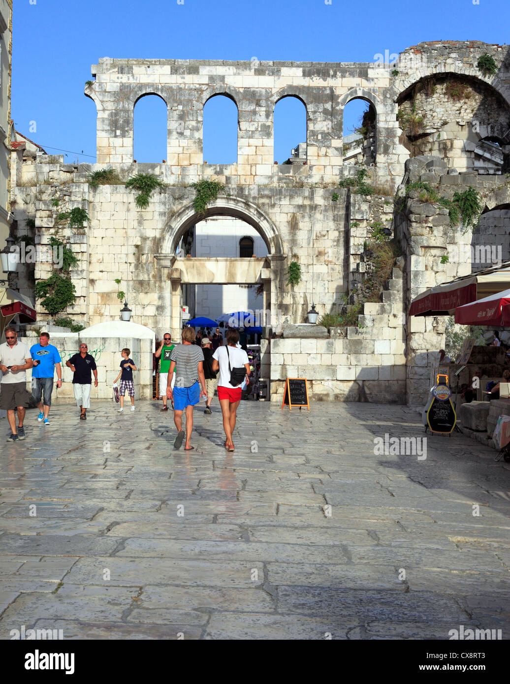 East gate, Porta Argentea, Split, Dalmatia, Croatia Stock Photo